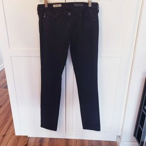 AG jeans black 27R the split cigarette jean